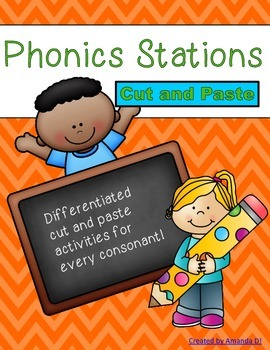 Phonics Stations: Cut and Paste