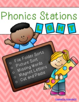 Phonics Stations: L, G, H, T (first 4 consonants introduced by Saxon Phonics)