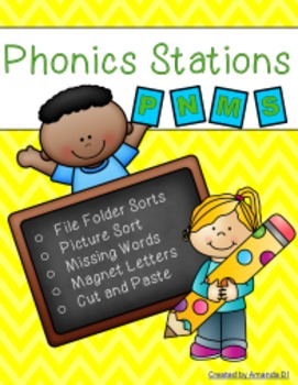 Phonics Stations: P, N, M, S (5th-8th consonants introduced by Saxon Phonics)