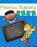 Phonics Stations: Z, C, Y, D (13th-16th consonants introduced by Saxon Phonics)