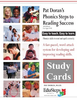 Phonics Steps to Reading Success PSRS Study Flash Cards