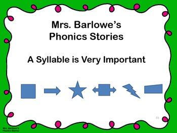 Phonics Lessons: 03 - A Syllable is Very Important
