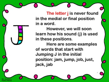 Phonics Lessons: 17 - Jumping J