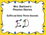 Phonics Lessons: 21 - Suffix ed Gets Three Sounds