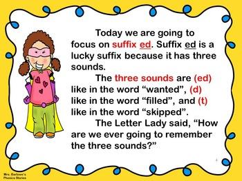 Phonics Lessons: 21 - Suffix ed Gets Three Sounds