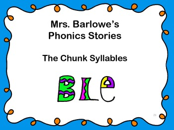 Phonics Lessons: 23 - The Chunk Syllables