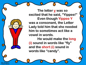 Phonics Lessons: 30 - Yippee Y Gets To Borrow Vowel Sounds In The Final Position