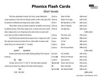 Phonics Story Flashcards: Short Vowels