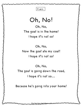 Phonics Story - Long O spelled: o, o_e, ow, oe, oa