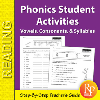 Phonics Student Activities: Vowels, Consonants, & Syllables