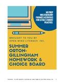Phonics Choice Board: Orton-Gillingham Friendly