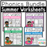 Phonics Summer Worksheets Bundle