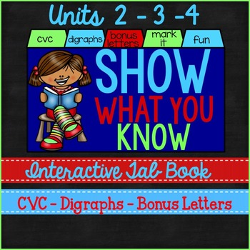 Phonics Tab Book Short Vowels and Digraphs
