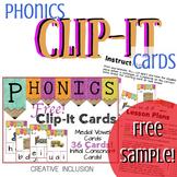 Phonics Task Box Activity - Clip-Its!