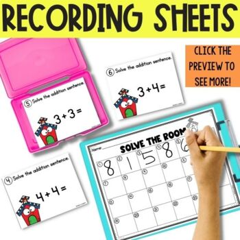 Phonics and Math Task Card Endless Bundle--Kindergarten, First Grade