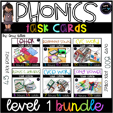 Phonics Task Card Level 1 [Task Box] Ultimate Bundle