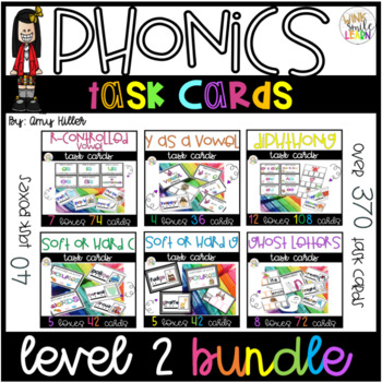 Phonics Task Card Level 2[Task Box] Ultimate Bundle