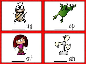 Phonics Task Cards-Beginning, Middle and End-CVC