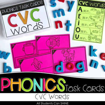 Phonics Task Cards - CVC Words