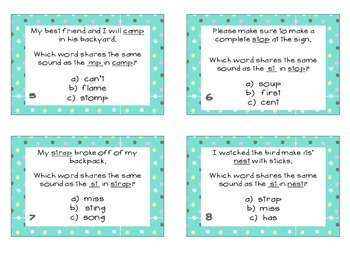Phonics Task Cards Consonant Blends