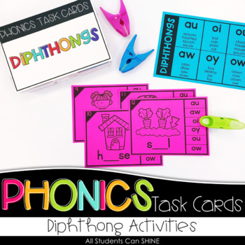 Phonics Task Cards - Diphthongs