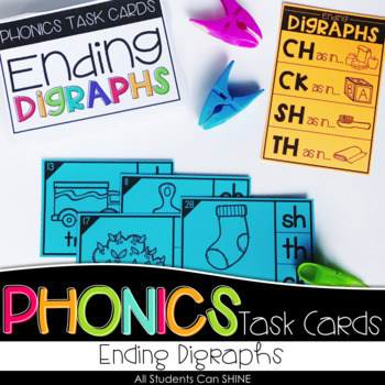 Phonics Task Cards - Ending Digraphs