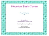 Phonics Task Cards Final Syllable -le