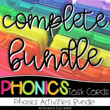 Phonics Task Cards - COMPLETE BUNDLE