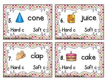 Phonics Task Cards: Hard and Soft C
