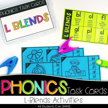 Phonics Task Cards - L Blends