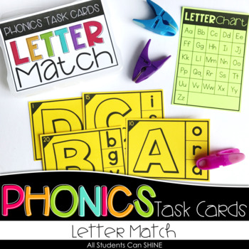 Phonics Task Cards - Letter Match
