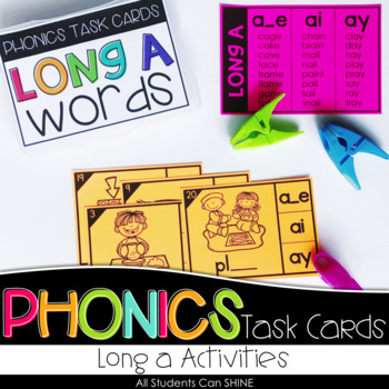 Phonics Task Cards - Long A