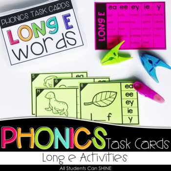 Phonics Task Cards - Long E