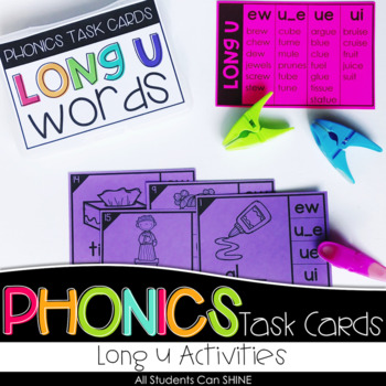 Phonics Task Cards - Long U