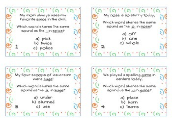 Phonics Task Cards Long Vowel VCe