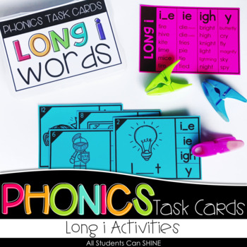 Phonics Task Cards - Long i