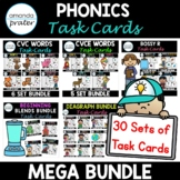 Phonics Task Cards Mega Bundle (Scoot, Write the Room, Centers)