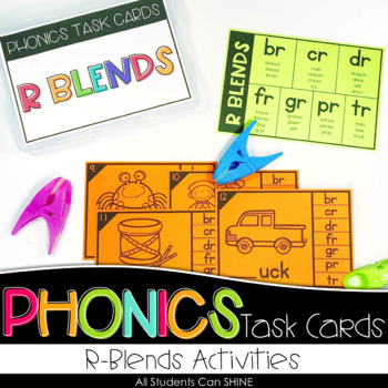 Phonics Task Cards - R Blends
