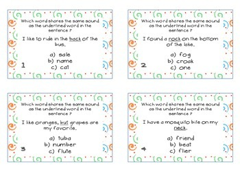 Phonics Task Cards Short Vowels and Consonants