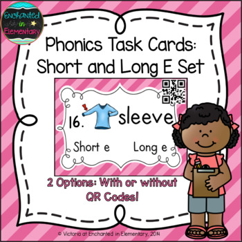 Phonics Task Cards: Short and Long E