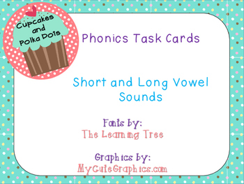 Phonics Task Cards Short and Long Vowel