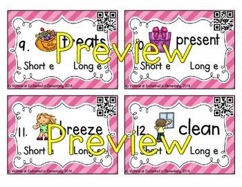 Phonics Task Cards: Short and Long Vowel Bundle