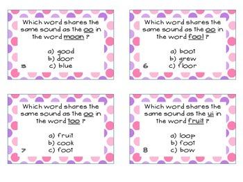 Phonics Task Cards Vowel Diagraphs