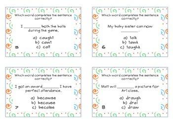 Phonics Task Cards Vowel Patterns