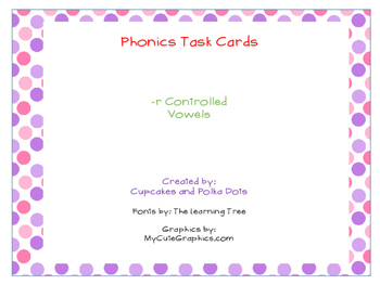 Phonics Task Cards -r Controlled Vowels