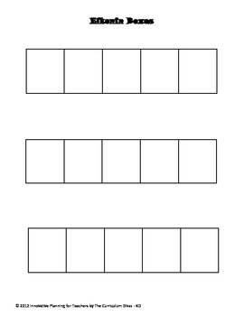 Phonics Task Menu Elkonin Boxes