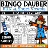 FALL Bingo Dabber GAMES~ Short Vowels