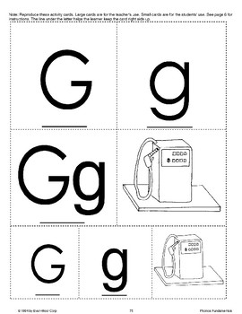 Phonics: The Letter G
