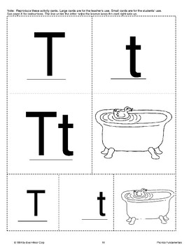 Phonics: The Letter T