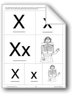 Phonics: The Letter X